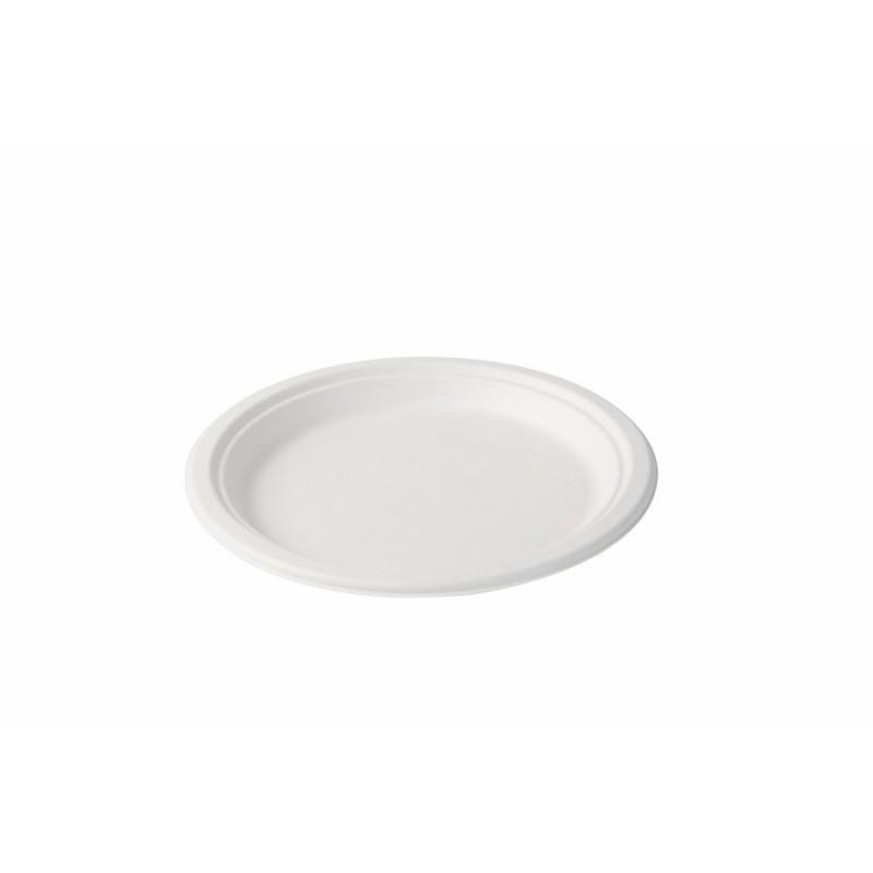 Jednorázový tanier z cukrovej trstiny Ø21,5cm