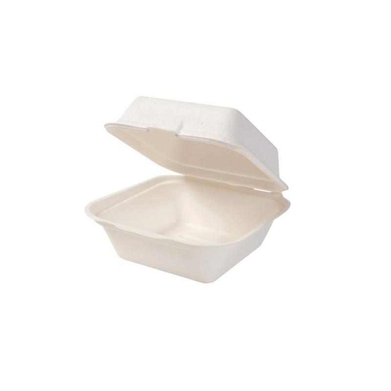 Gastro box z cukrovej trstiny na burger 15,9x15,8 cm
