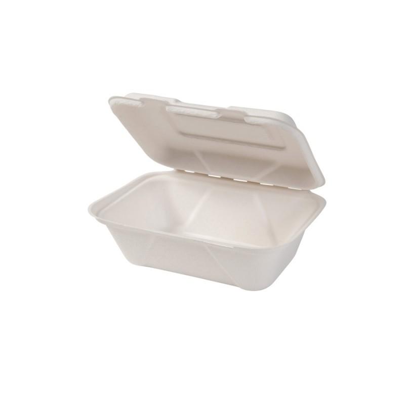 Gastro box z cukrovej trstiny s viečkom 600 ml