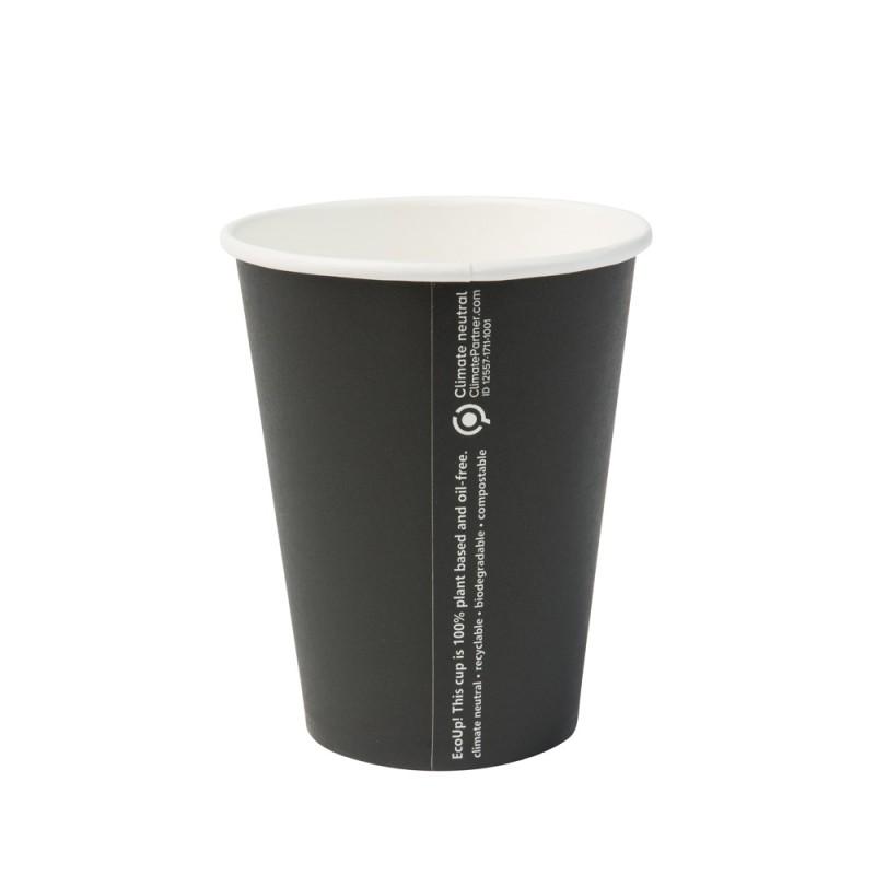 Papierový pohár na kávu 300 ml čierny