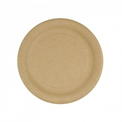 Papierový tanier hnedý Ø23...